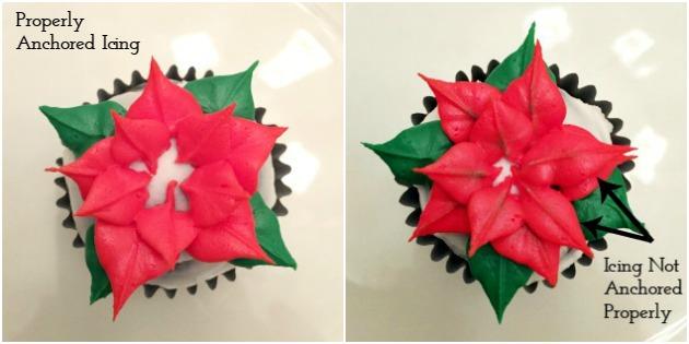Poinsettia Cupcakes Tutorial
