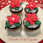Mini Poinsettia Cupcakes for Christmas
