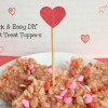 DIY Heart Cupcake Topper for Valentine's Day