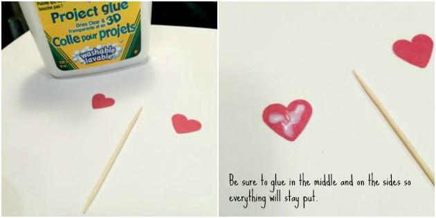 DIY Heart Valentine Cupcake Topper