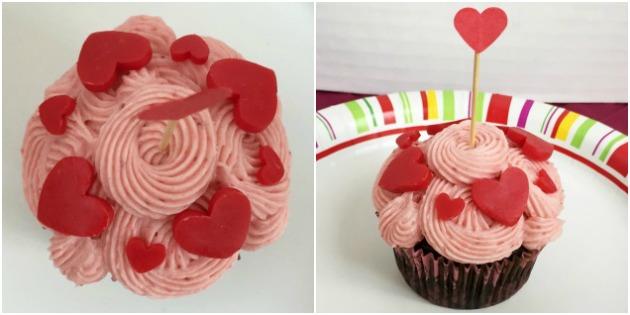 Queen of Hearts Valentine Cupcake