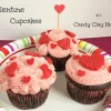 Valentine Cupcakes with Candy Clay Hearts