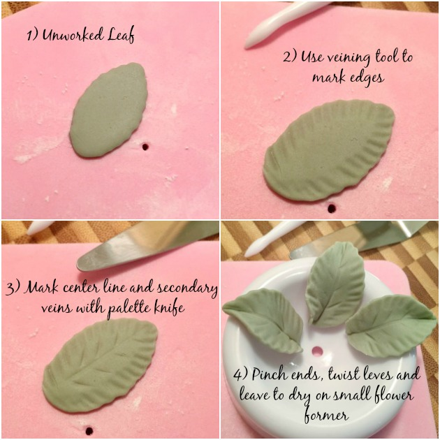 Making leaves - Wilton Course 3 - Fondant and Gum Paste