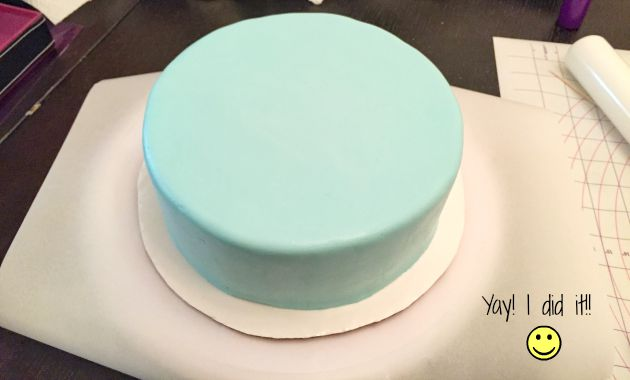 Course 4 - cake covered in fondant