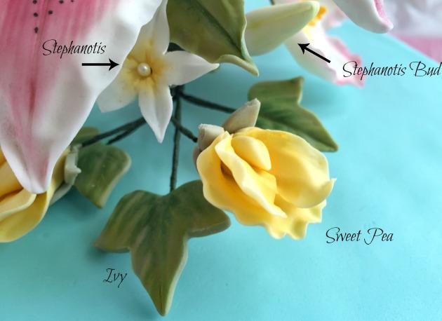 Sweet Pea - Stephanotis - Ivy Wilton Course 4