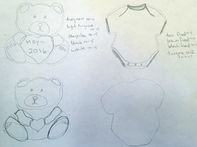 Teddy Bear Cookie Sketches
