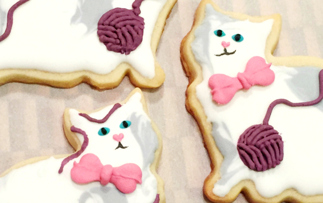 Royal Icing Cat Cookies