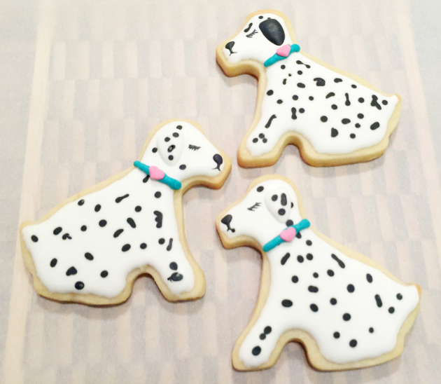 Dalmatian Dog Cookies