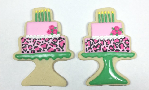 Leopard print birthday cookies