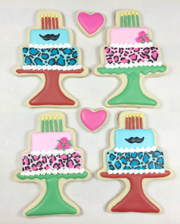 Decorated Birthday Cake Cookie Collection