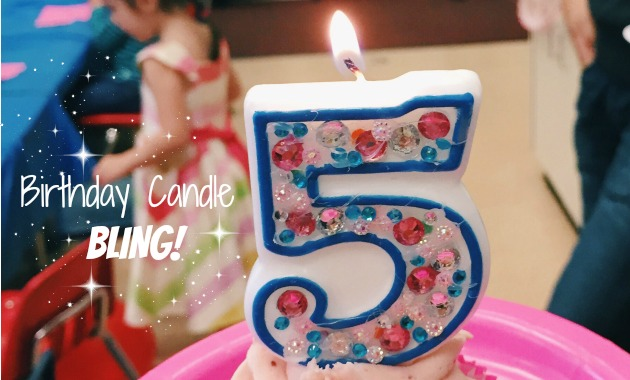 DIY Birthday Candle Bling