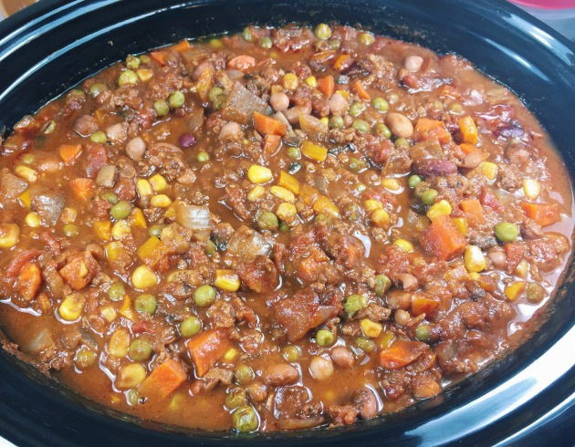 6qt slow cooker vegetable beef chili recipe