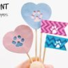 How To Make Paw Print Cupcake Toppers