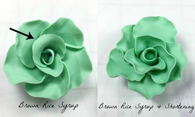 Brown Rice Syrup Candy Clay roses shortening