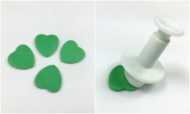 Making a Shamrock with heart cutters 1