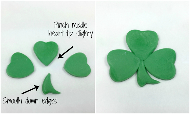 Making a Shamrock with heart cutters 3