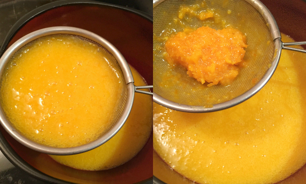 Strain for Silky Smooth Orange Curd