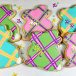 Plaid Easter Bunny Cookies
