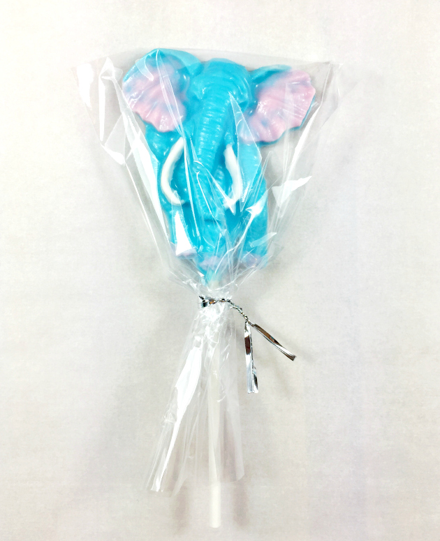 Wrapped Chocolate Elephant Lollipop Party Favor