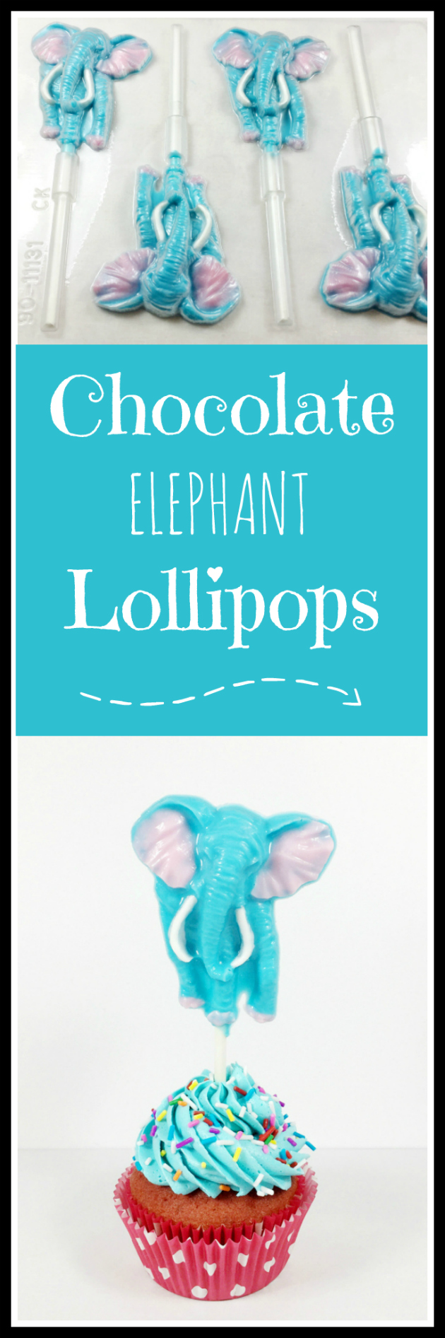 Chocolate Elephant Lollipops Tutorial