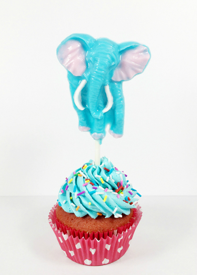 Chocolate Elephant Lollipop Cupcake Topper